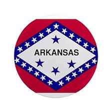 "Beloved Arkansas Flag Modern 3.5"" Button"