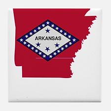 Arkansas Stripe Custom Design Tile Coaster