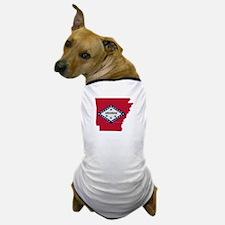 Arkansas Stripe Custom Design Dog T-Shirt