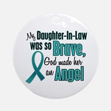 Angel 1 TEAL (Daughter-In-Law) Ornament (Round)