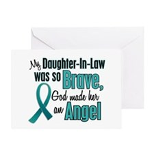 Angel 1 TEAL (Daughter-In-Law) Greeting Card