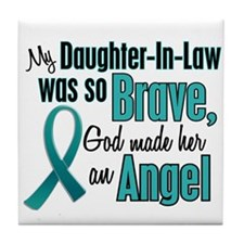 Angel 1 TEAL (Daughter-In-Law) Tile Coaster
