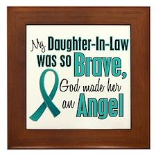 Angel 1 TEAL (Daughter-In-Law) Framed Tile
