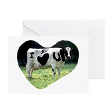 I Love You Cow Greeting Card