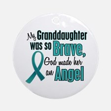 Angel 1 TEAL (Granddaughter) Ornament (Round)