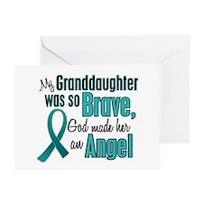 Angel 1 TEAL (Granddaughter) Greeting Card