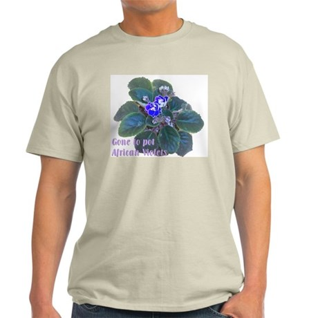 Gone to Pot African Violets Ash Grey T-Shirt