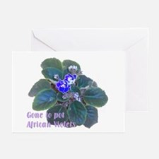 Gone to Pot African Violets Greeting Cards (Packag