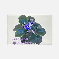 Gone to Pot African Violets Rectangle Magnet