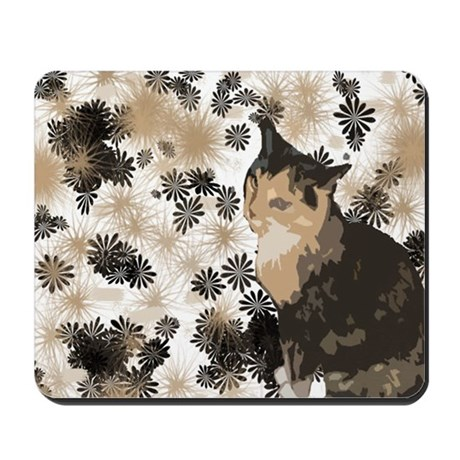 Calico Cat Lover Design Mousepad