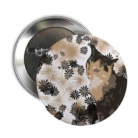 "Calico Cat Lover Design 2.25"" Button"