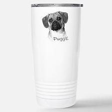 Perfect Puggle Portrait Stainless Steel Travel Mug