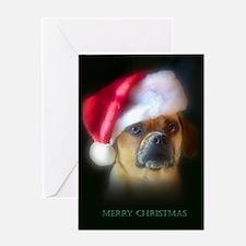 Puggle Christmas Gift Greeting Card