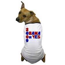 Obama Oh Yes in Red, White an Dog T-Shirt