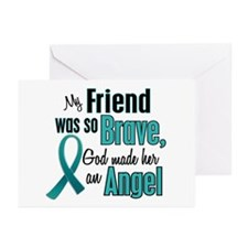Angel 1 TEAL (Friend) Greeting Cards (Pk of 10)