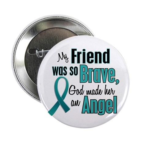 "Angel 1 TEAL (Friend) 2.25"" Button (10 pack)"