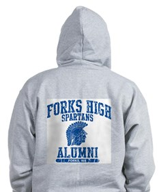 Unique Forks high school Zip Hoodie