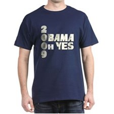 Obama Oh Yes in White T-Shirt