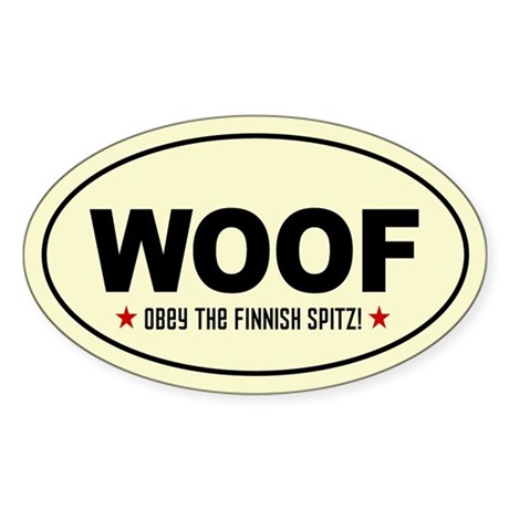 WOOF Obey the FINNISH SPITZ! Sticker