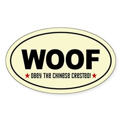 WOOF-Obey the CHINESE CRESTED! Decal