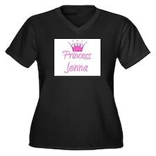 Princess Jenna Women's Plus Size V-Neck Dark T-Shi