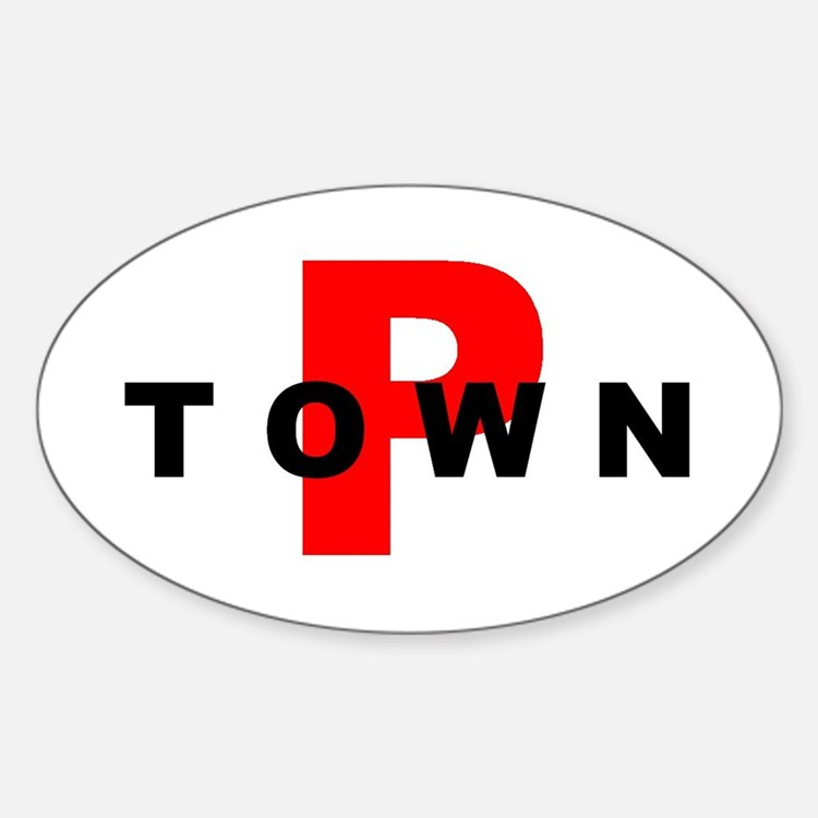 P TOWN Oval Decal