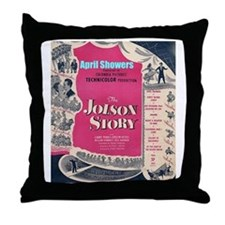 """The Jolson Story"" Throw Pillow"