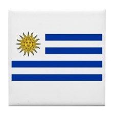 Cute Uruguay flag Tile Coaster