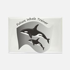 Future Whale Trainer Rectangle Magnet