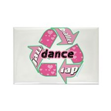Recycle Dance Rectangle Magnet (10 pack)