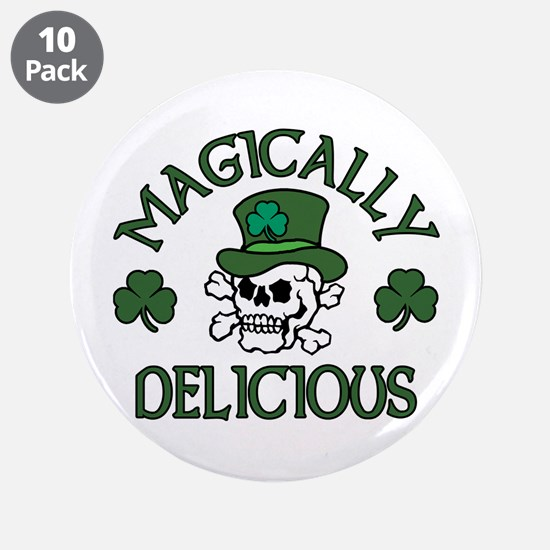 "Magically Delicious Skull 3.5"" Button (10 pack)"