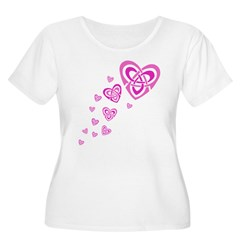 Pink Celtic Hearts T-Shirt