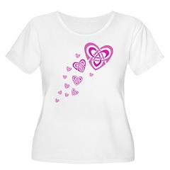 Pink Celtic Hearts T-Shirt