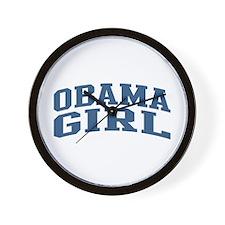 Obama Girl Nickname Collegiate Style Wall Clock