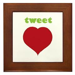 Tweet Heart Framed Tile