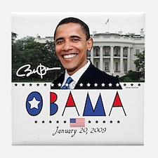 New Obama White House Tile Coaster