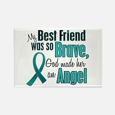 Angel 1 TEAL (Best Friend) Rectangle Magnet