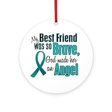 Angel 1 TEAL (Best Friend) Ornament (Round)