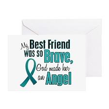Angel 1 TEAL (Best Friend) Greeting Card