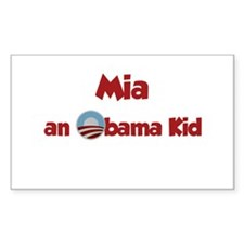 Mia - Obama Kid Rectangle Decal
