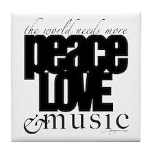 Unique Peace love Tile Coaster