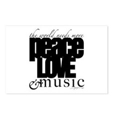 Unique Music Postcards (Package of 8)