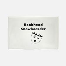 Bonkhead Snowboarder Rectangle Magnet