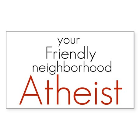 Friendly neighborhood atheist Rectangle Sticker