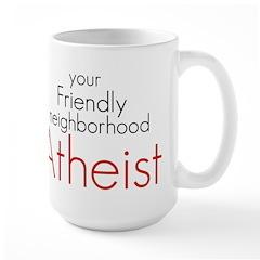 Friendly neighborhood atheist Large Mug