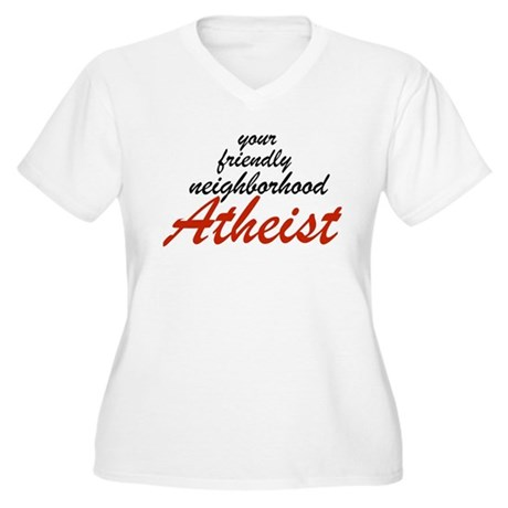 Friendly neighborhood atheist Women's Plus Size V-