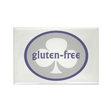 gluten-free (club) Rectangle Magnet