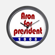 Aron for president. Wall Clock