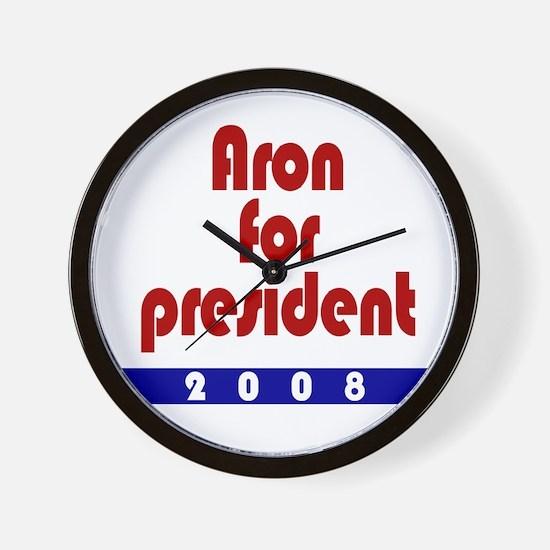 Aron for president. Wall Clock
