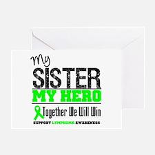 Lymphoma Hero Sister Greeting Card